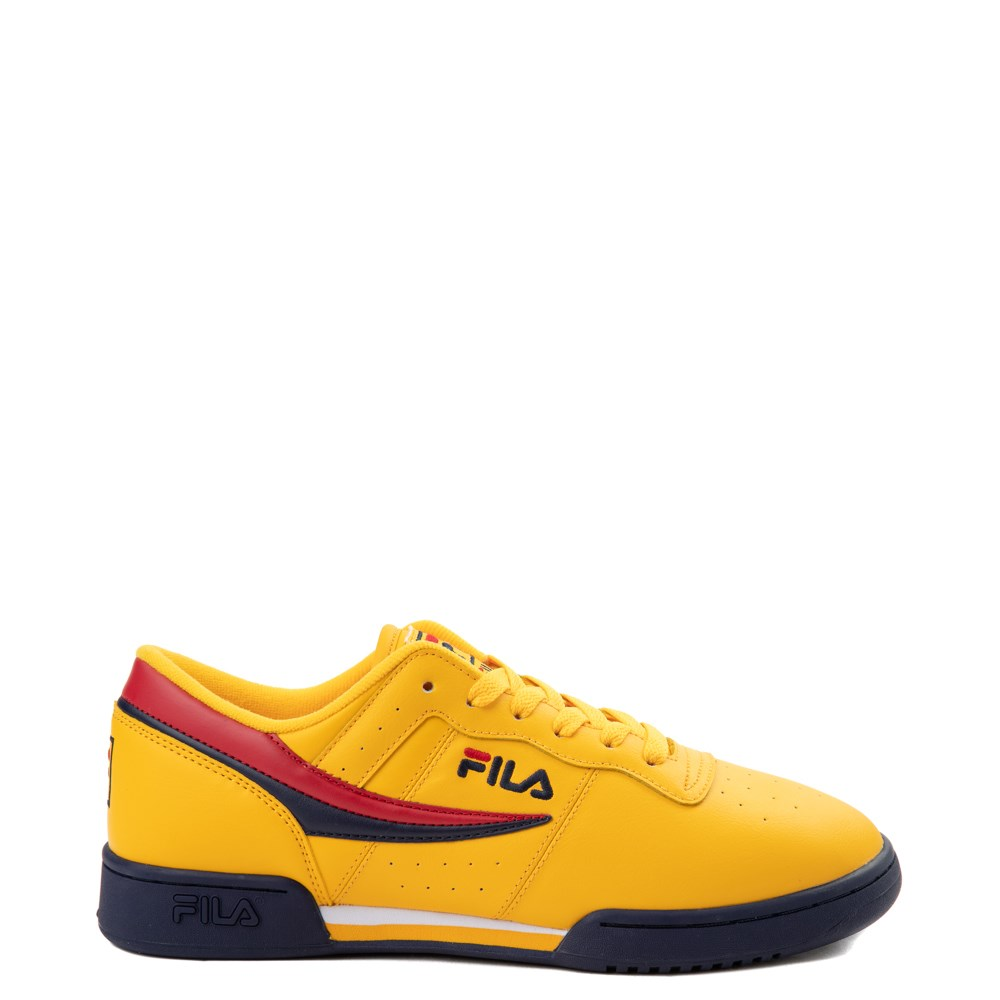 Womens Fila Original Fitness Athletic Shoe - Yellow / Navy / Red