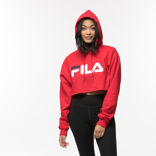 alternate view Womens Fila Cropped HoodieALT4