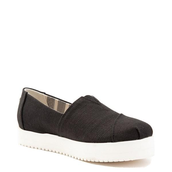 alternate view Womens TOMS Classic Slip On Platform Casual Shoe - BlackALT3