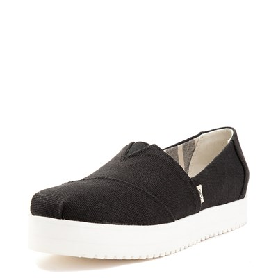 Alternate view of Womens TOMS Classic Slip On Platform Casual Shoe - Black