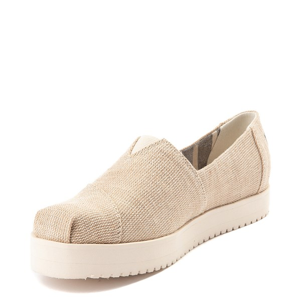 alternate view Womens TOMS Classic Slip On Platform Casual Shoe - NaturalALT3