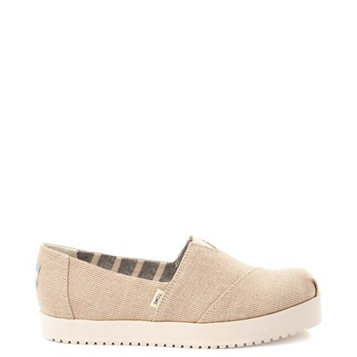 Main view of Womens TOMS Classic Slip On Platform Casual Shoe - Natural