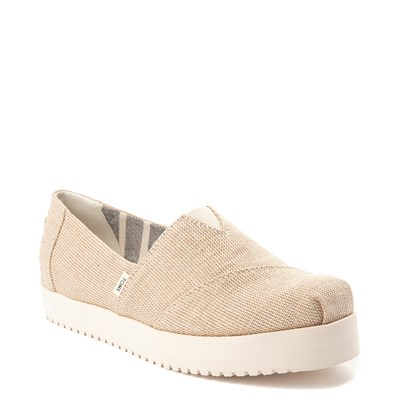 Alternate view of Womens TOMS Classic Slip On Platform Casual Shoe - Natural