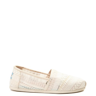 Main view of Womens TOMS Classic Lace Slip On Casual Shoe - Natural