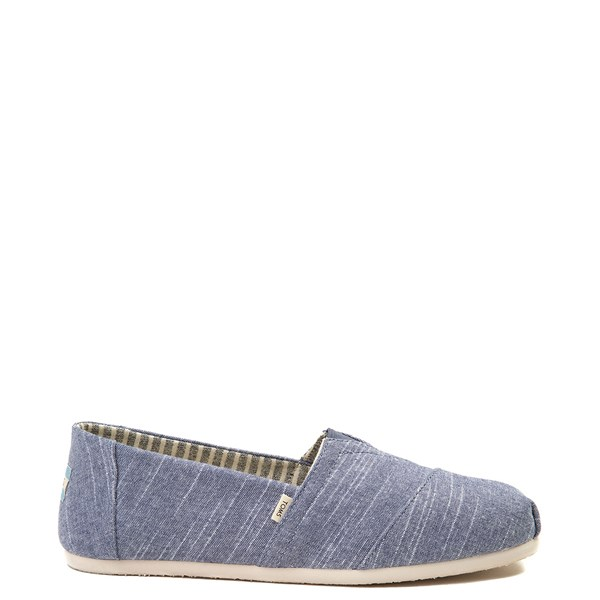 Mens TOMS Classic Slip On Casual Shoe - Blue