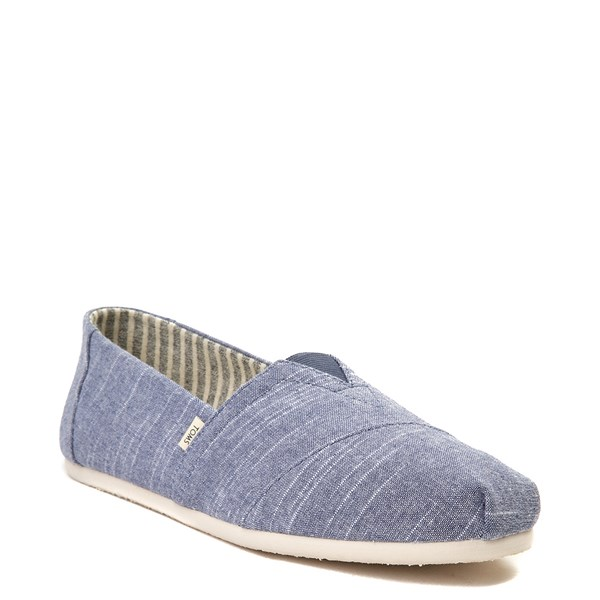 alternate view Mens TOMS Classic Slip On Casual Shoe - BlueALT1