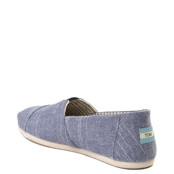 alternate view Mens TOMS Classic Slip On Casual Shoe - BlueALT2