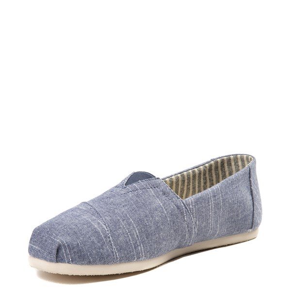 alternate view Mens TOMS Classic Slip On Casual Shoe - BlueALT3