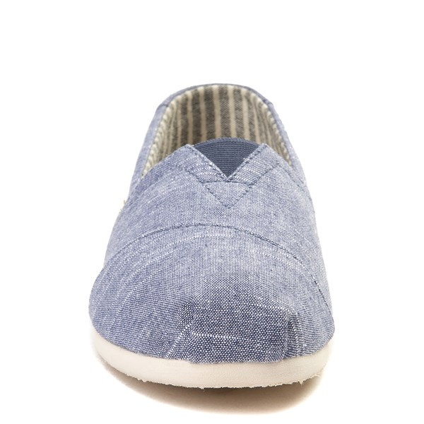 alternate view Mens TOMS Classic Slip On Casual Shoe - BlueALT4