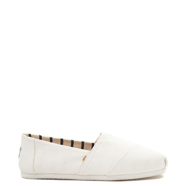 Main view of Mens TOMS Classic Slip On Casual Shoe - White