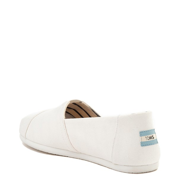 alternate view Mens TOMS Classic Slip On Casual Shoe - WhiteALT1