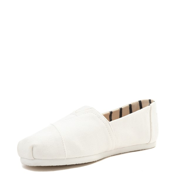 alternate view Mens TOMS Classic Slip On Casual Shoe - WhiteALT2