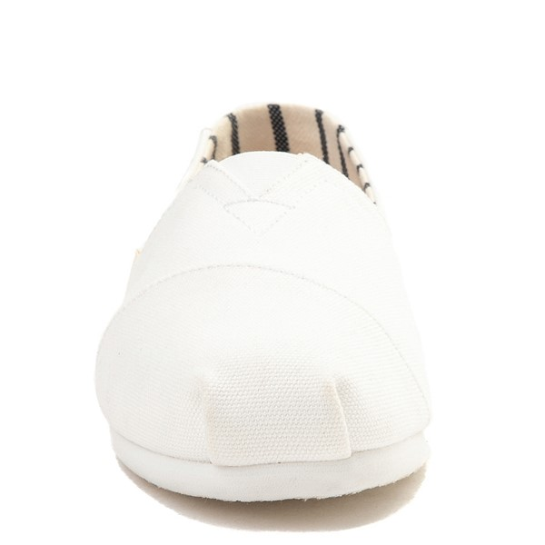 alternate view Mens TOMS Classic Slip On Casual Shoe - WhiteALT4