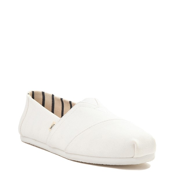 alternate view Mens TOMS Classic Slip On Casual Shoe - WhiteALT5