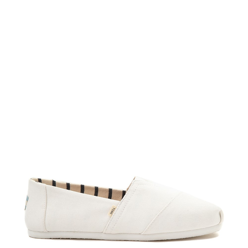 Mens TOMS Classic Slip On Casual Shoe - White