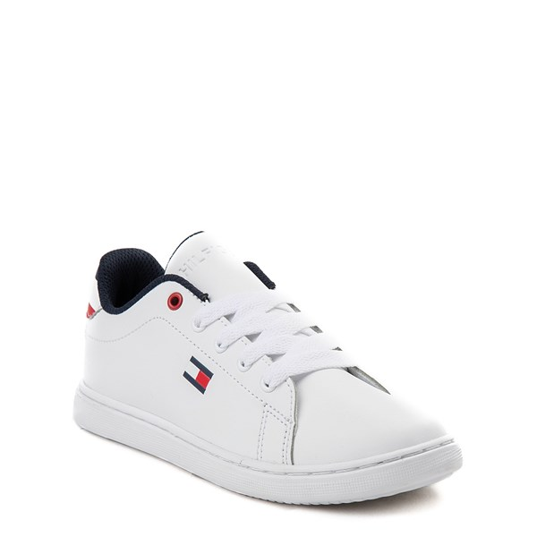 alternate view Tommy Hilfiger Iconic Court Casual Shoe - Little Kid / Big Kid - WhiteALT1