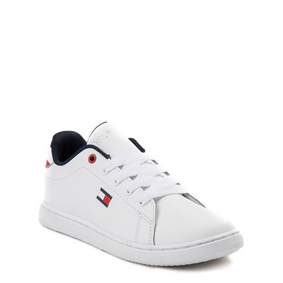Alternate view of Tommy Hilfiger Iconic Court Casual Shoe - Little Kid / Big Kid - White