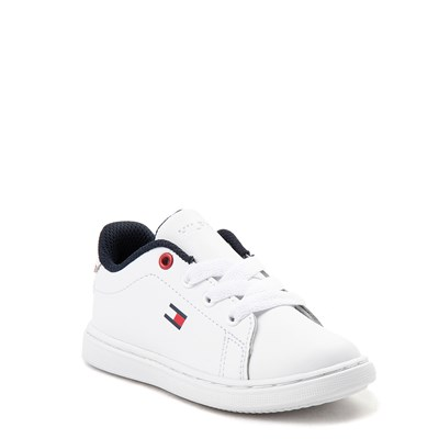 Alternate view of Tommy Hilfiger Iconic Court Casual Shoe - Baby / Toddler - White