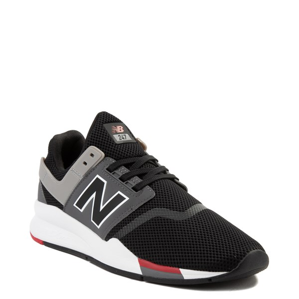 alternate view Mens New Balance 247 V2 Athletic Shoe - Black / Gray / RedALT1