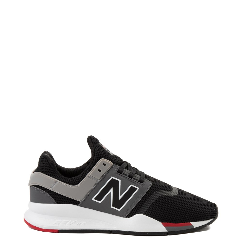 Mens New Balance 247 V2 Athletic Shoe - Black / Gray / Red