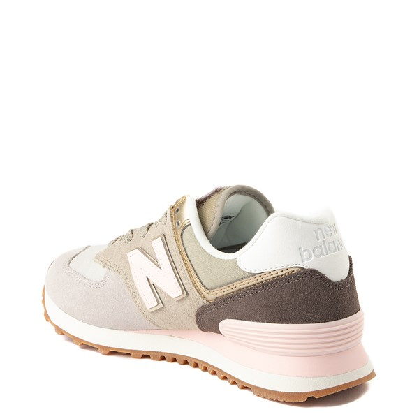 alternate view Womens New Balance 574 Metallic Patch Athletic ShoeALT2