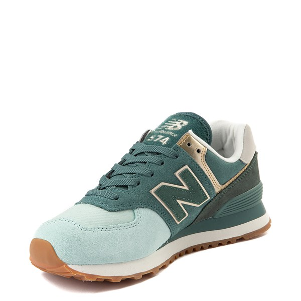 alternate view Womens New Balance 574 Metallic Patch Athletic ShoeALT3