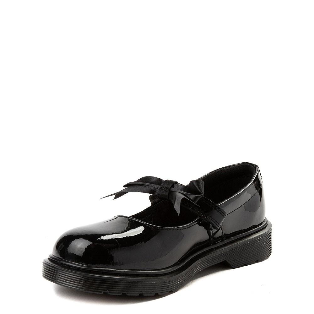 Girls Mary Jane Flat Black School Shoes Dress