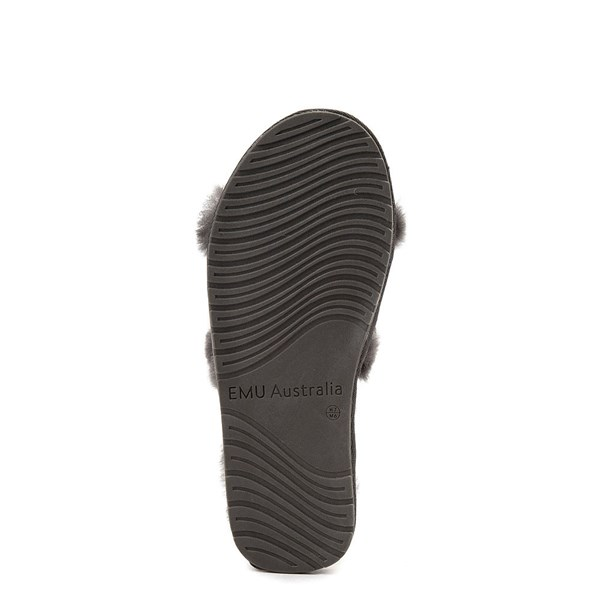 alternate view Womens EMU Australia Wrenlette Slide Sandal - CharcoalALT5