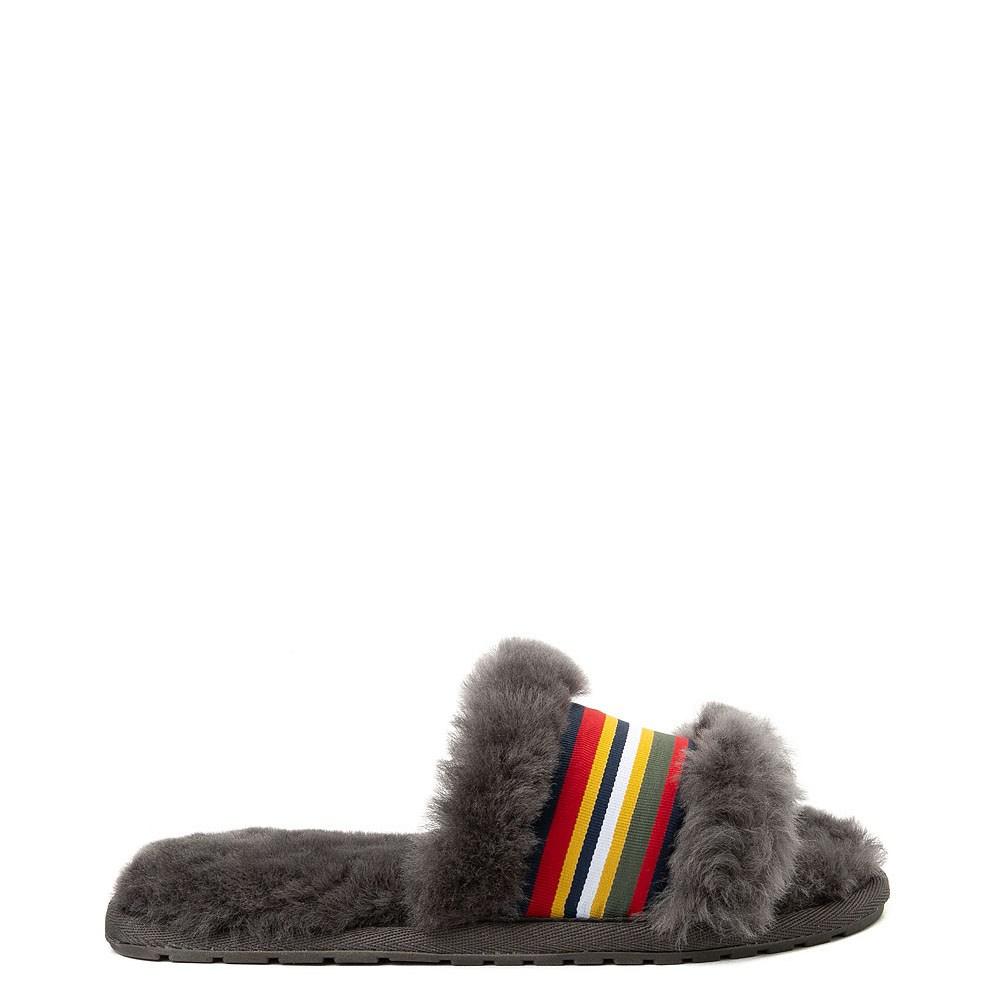 Womens EMU Australia Wrenlette Slide Sandal - Charcoal