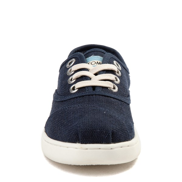 alternate view TOMS Cordones Casual Shoe - Little Kid / Big Kid - NavyALT4