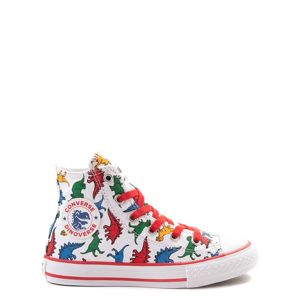 Converse Chuck Taylor All Star Hi Dinos Sneaker - Little Kid - White