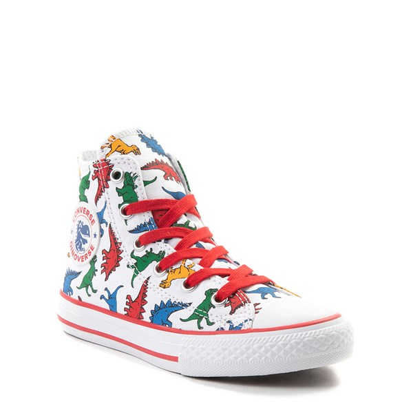 alternate view Converse Chuck Taylor All Star Hi Dinos Sneaker - Little Kid - WhiteALT1B