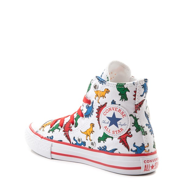 alternate view Converse Chuck Taylor All Star Hi Dinos Sneaker - Little Kid - WhiteALT2
