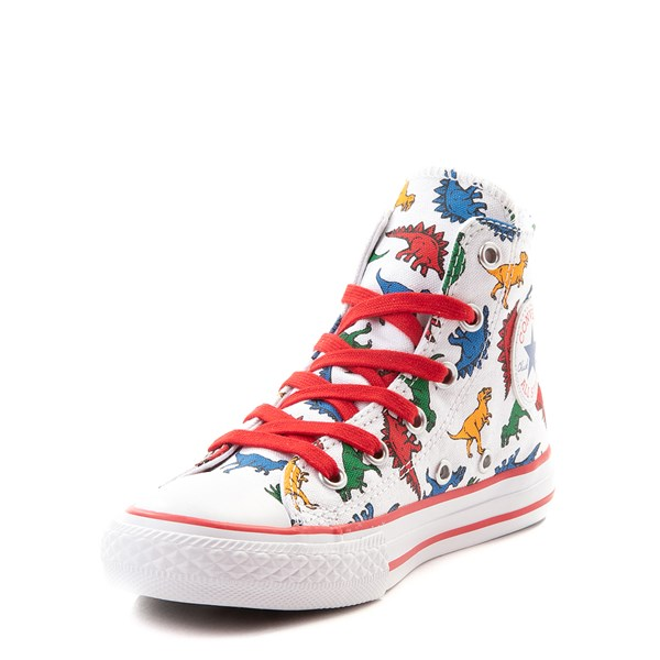 alternate view Converse Chuck Taylor All Star Hi Dinos Sneaker - Little Kid - WhiteALT3