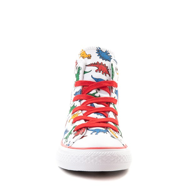 alternate view Converse Chuck Taylor All Star Hi Dinos Sneaker - Little Kid - WhiteALT4