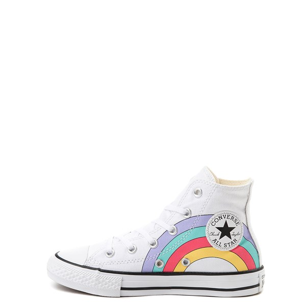 alternate view Converse Chuck Taylor All Star Hi Unicorn Rainbow Sneaker - Little Kid / Big Kid - WhiteALT1