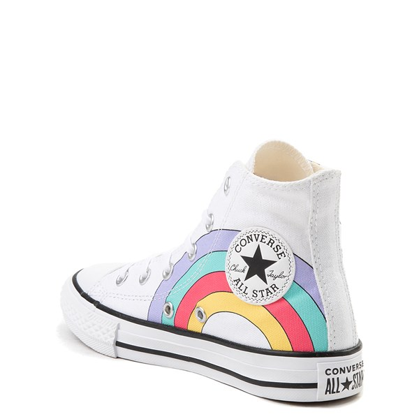 alternate view Converse Chuck Taylor All Star Hi Unicorn Rainbow Sneaker - Little Kid / Big Kid - WhiteALT2