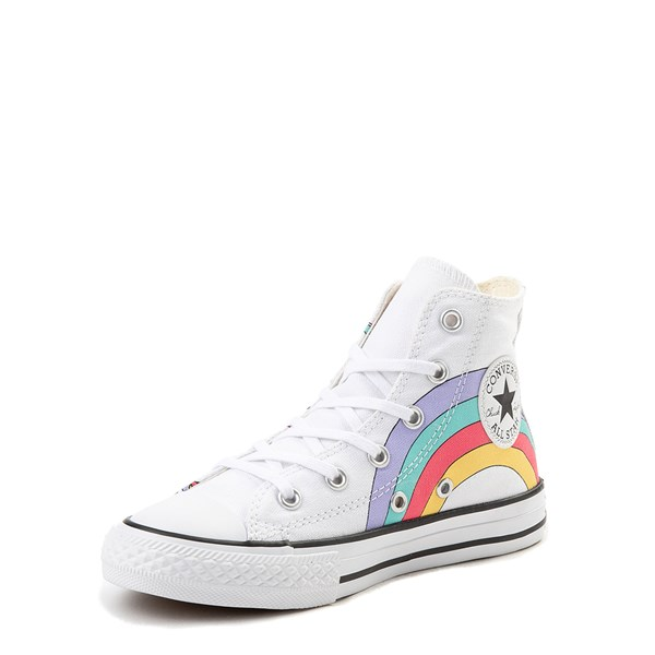 alternate view Converse Chuck Taylor All Star Hi Unicorn Rainbow Sneaker - Little Kid / Big Kid - WhiteALT3