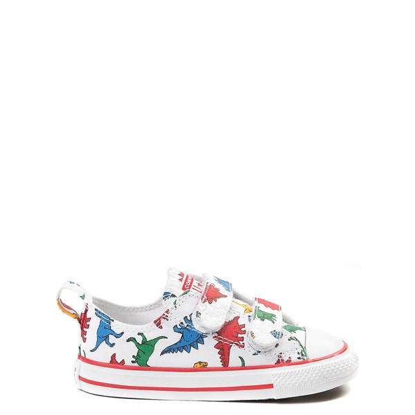 Converse Chuck Taylor All Star 2V Lo Dinos Sneaker - Baby / Toddler - White / Multi