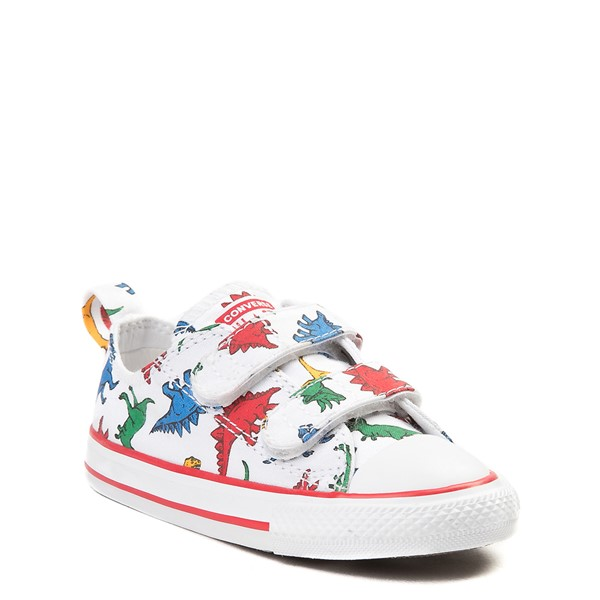 Alternate view of Converse Chuck Taylor All Star 2V Lo Dinos Sneaker - Baby / Toddler - White / Multi