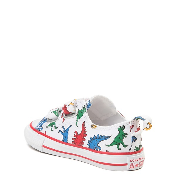 alternate view Converse Chuck Taylor All Star 2V Lo Dinos Sneaker - Baby / Toddler - White / MultiALT2