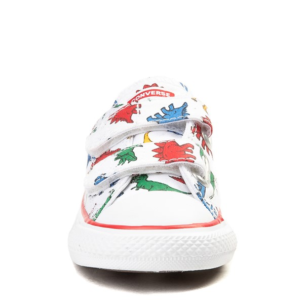 alternate view Converse Chuck Taylor All Star 2V Lo Dinos Sneaker - Baby / Toddler - White / MultiALT4
