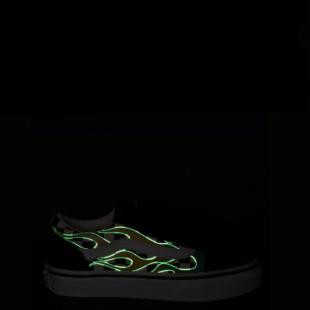 Vans Old Skool V Glow Flame Checkerboard Skate Shoe Little
