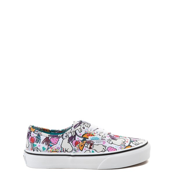 Default view of Vans Authentic Llama Party Skate Shoe - Little Kid / Big Kid - Multi