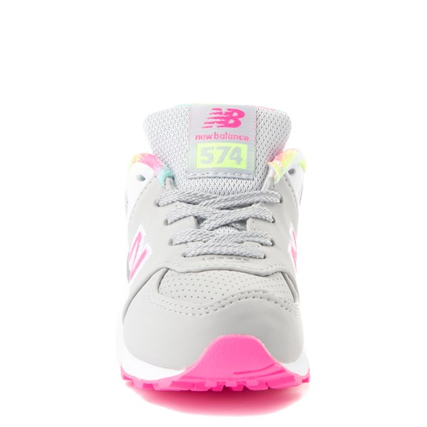 alternate view New Balance 574 Athletic Shoe - Baby / Toddler - Gray / PinkALT4