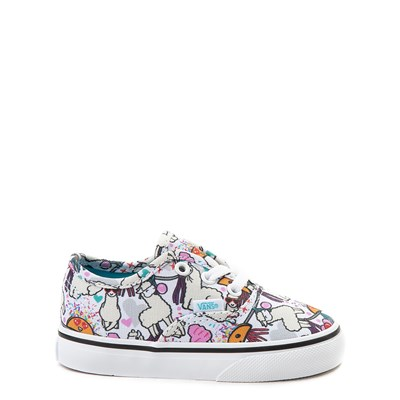 Main view of Vans Authentic Llama Party Skate Shoe - Baby / Toddler - White / Multi