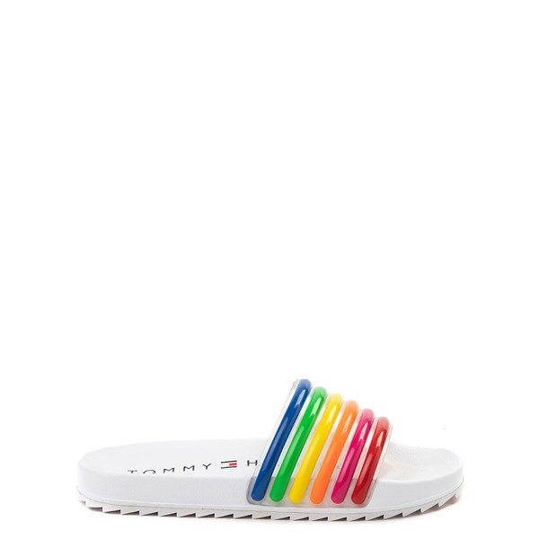 Tommy Hilfiger Shylo Slide Sandal - Little Kid / Big Kid - White / Multi