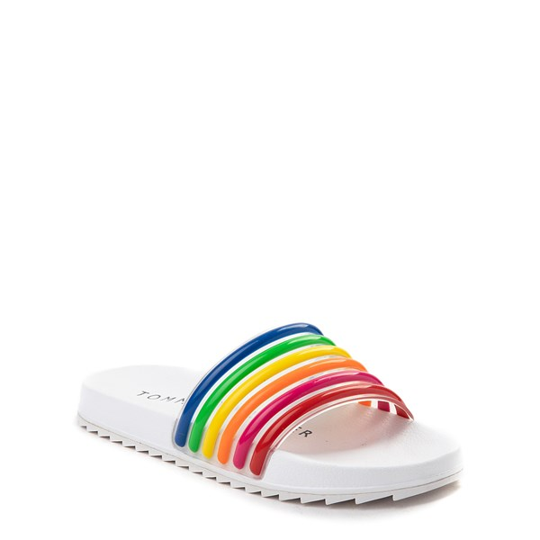 alternate view Tommy Hilfiger Shylo Slide Sandal - Little Kid / Big Kid - White / MultiALT1
