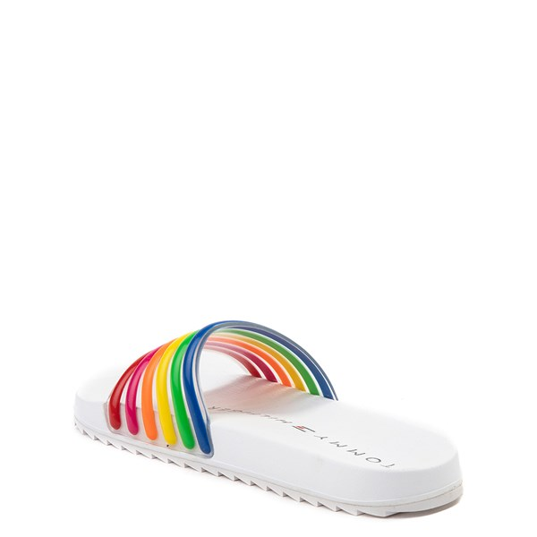 alternate view Tommy Hilfiger Shylo Slide Sandal - Little Kid / Big Kid - White / MultiALT2
