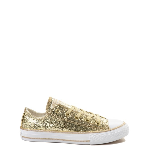 Converse Chuck Taylor All Star Lo Glitter Sneaker - Little Kid - Gold